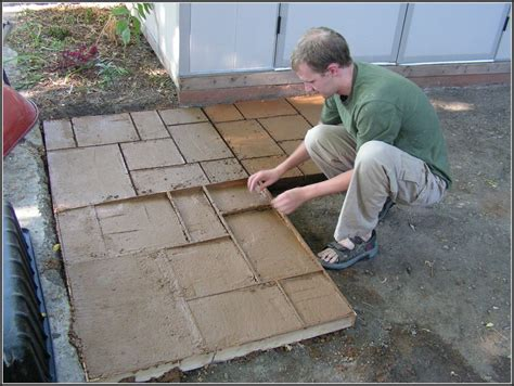 concrete patio molds diy patios home decorating ideas