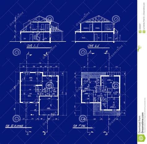 house blueprints royalty free stock photography image