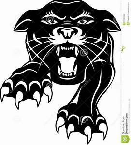 Panther clipart black thing - Pencil and in color panther ...