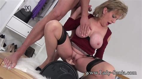 Uk Milf Rides Sybian And Sucks A Huge Cock Free Hd Porn 74