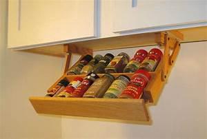 Ultimate, Kitchen, Storage, Under, Cabinet, Mini, Spice, Rack, Kitchen, Organizer, Handmade, Hardwood