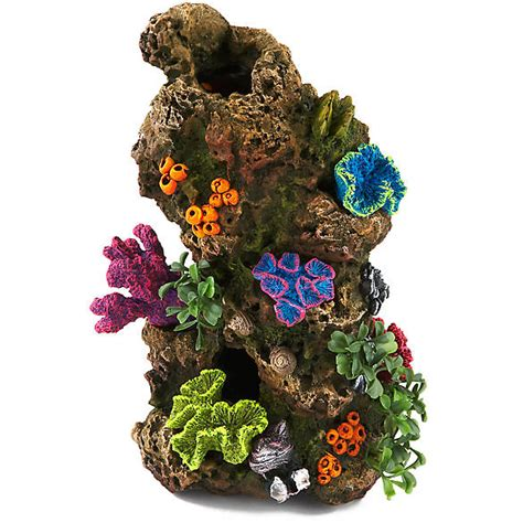 fish tank decorations cheap top fin 174 coral plant rocky aquarium ornament fish