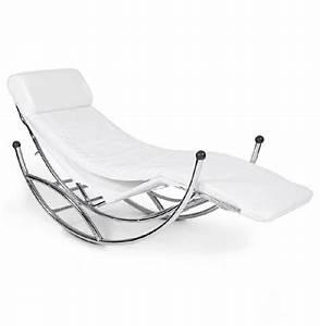 Chaise A Bascule Blanche : chaise longue 39 dodo 39 bascule couleur blanche ~ Teatrodelosmanantiales.com Idées de Décoration
