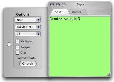 comment mettre un pense bete sur le bureau ipost mac télécharger