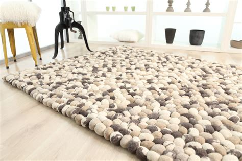 faux cowhide rug pebbles handmade rug design 1821 in mix camel objects