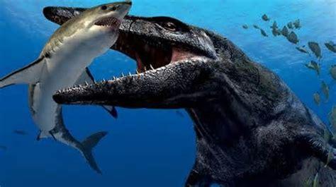 leopluradon devours shark jurassic world pinterest shark  prehistoric animals