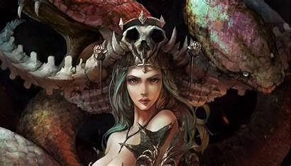 Fantasy Warrior Dragon Queen Woman Artwork Wallhaven