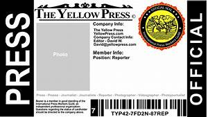 press pass template cyberuse With press badge template