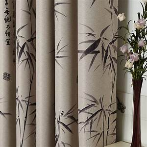 Bamboo curtain of modern chinese style bedroom livingroom for Bamboo curtains in bedroom