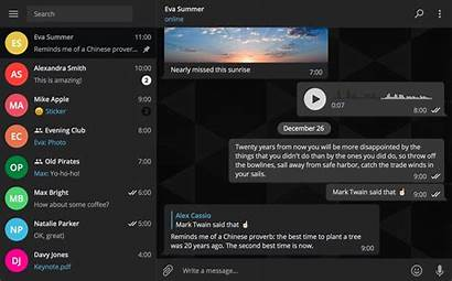 Telegram Desktop App Theme Dark Version Themes
