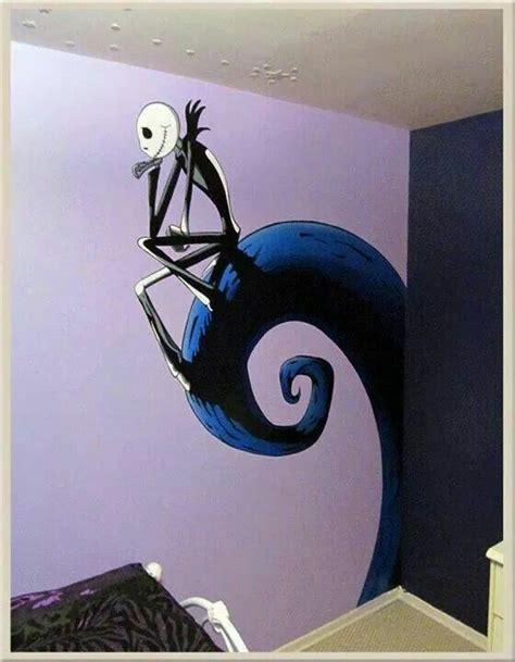 nightmare before christmas wall mural home design