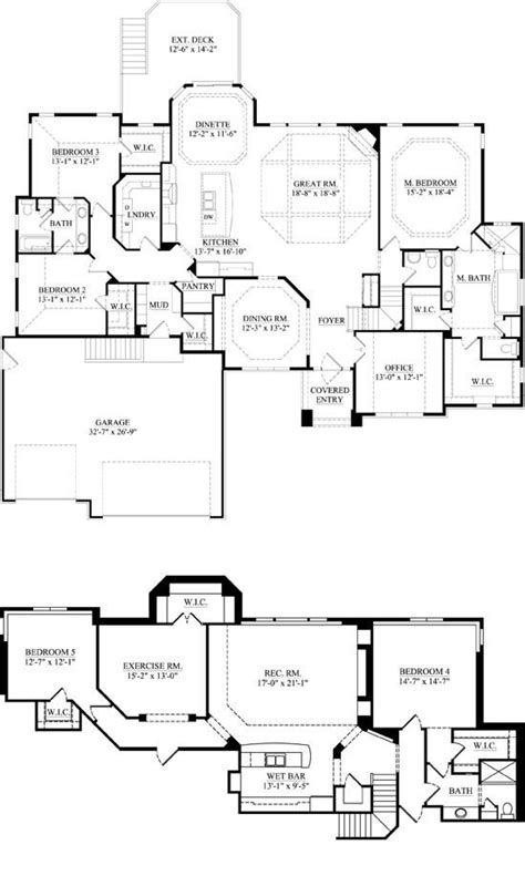 Bedroom Floor Exercises by Downstairs Master Office Dining Kitchen Great Room