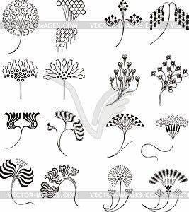 Jugendstil Florale Ornamente : einfache florale ornamente im jugendstil vektorisiertes ~ Orissabook.com Haus und Dekorationen