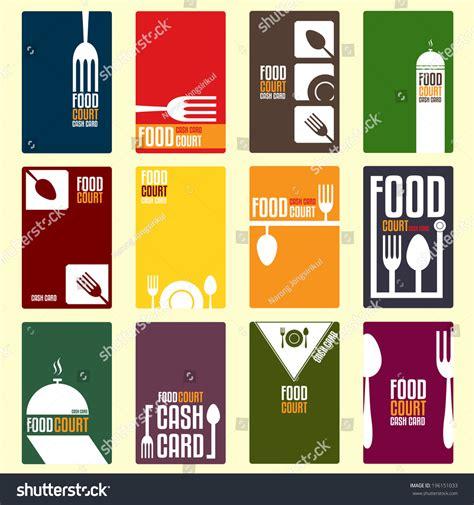 food court cash card menu card stock vector