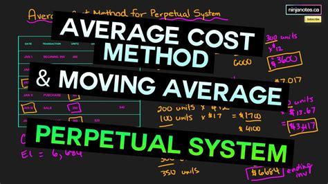 prepare  average cost method   perpetual inventory