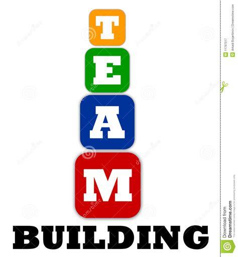 team building logo stock illustration image  colored