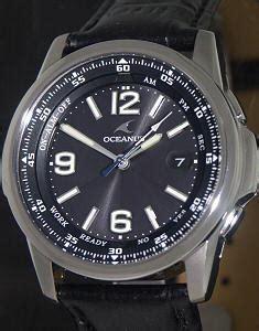 oceanus atomic solar wrist watches analog titanium solar