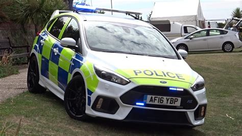police car lights ford focus rs demo car youtube