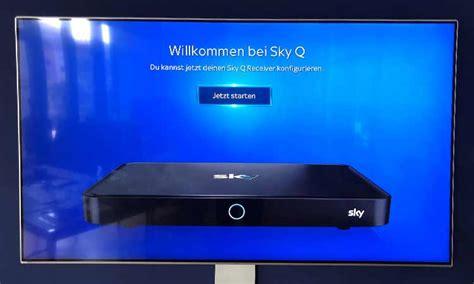 sky  einrichten installation auf tv smartphone und