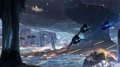 Halo Spaceships Concept Fine Spartans Guardians Gifs