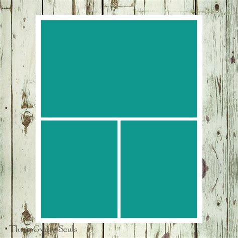 8x10 storyboard collage template layered psd collage template