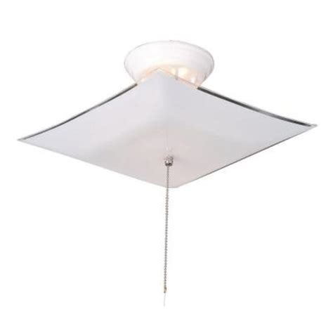 design house 2 light white ceiling square mount light