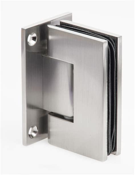 brushed nickel interior door heavy glass shower door hinges in brushed nickel
