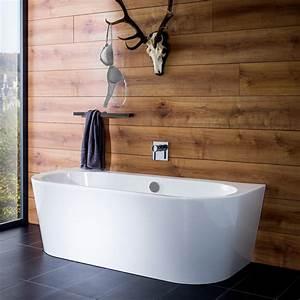 Frei Stehende Badewanne : steinkamp living freistehende vorwand badewanne 180 x 80 cm st010w megabad ~ Udekor.club Haus und Dekorationen