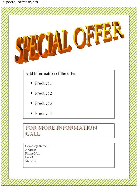 Free Business Flyer Templates by Business Flyer Templates Free Playbestonlinegames