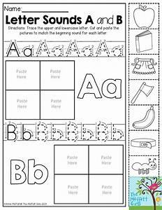 letter sounds trace the letters then cut and paste the With letter sounds for preschool