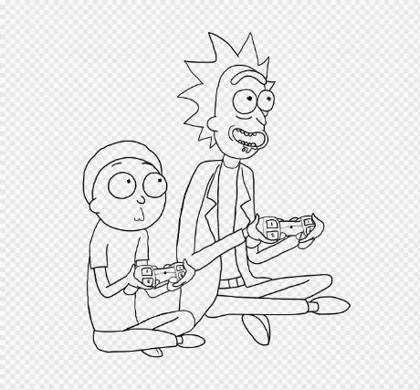 gambar rick morty amino  coloring pages  rebanas