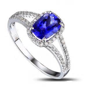 2 carat cushion cut engagement rings 2 carat cushion cut sapphire and halo engagement ring in white gold jewelocean