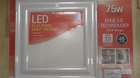 costco led light fixture updated feit flat panel led light fixture detailed