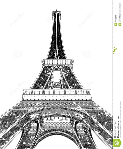 eiffel tower vector illustration stock image image