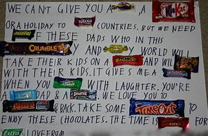 chocolate message for Dad | angathome