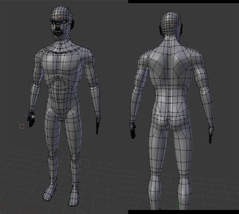 blender male template new standard 3d body worlds on paper