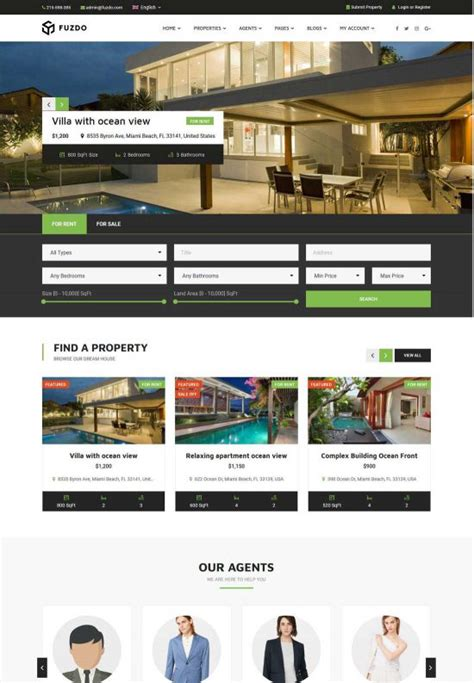 Real Estate Themes 50 Best Real Estate Themes Free Premium
