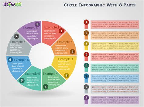 infographie cercle avec  parties pour powerpoint