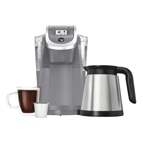 It has various products ranging from different coffee makers, carafes, filters, and even capsules/pods. Keurig K200 Single-Serve K-Cup Pod Coffee Maker, Cashmere Gray - VIP Outlet