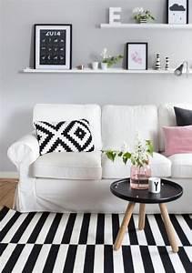 Wohnzimmer Scandi Style : 29 awesome ikea ektorp sofa ideas for your interiors digsdigs ~ Frokenaadalensverden.com Haus und Dekorationen