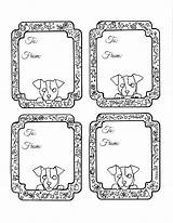 Gift Coloring Tags Christmas Printable Doggie Tag These Easy Crafts Gifts Jack Russell Label sketch template