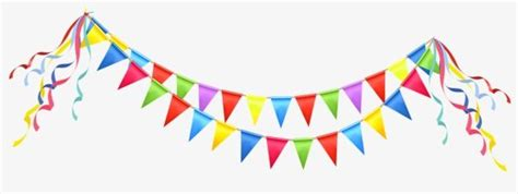 triangular flags color birthday triangle png