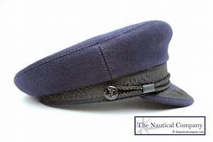 Breton hat, Sailor Captain Hat Navy Blue Wool Casquette