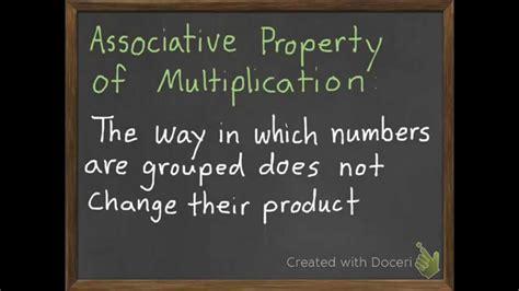 associative property  multiplication   youtube