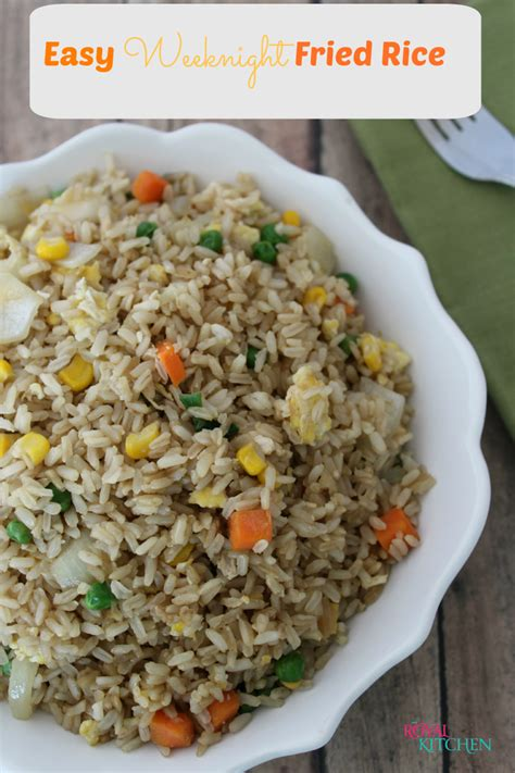 These weeknight dinner recipes with rice taste great and are easy to make. Easy Weeknight Fried Rice