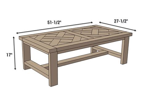 Living Room Table Measurements diy parquet coffee table free plans wood projects