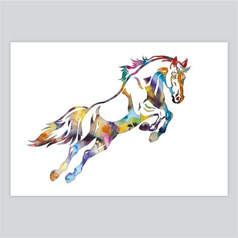 Art Watercolor Illustration Horse   By Artollo