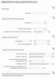 Lohnsteuer Berechnen 2016 : lohnsteuer einkommensteuer rechner wiwi treff zeitung ~ Themetempest.com Abrechnung