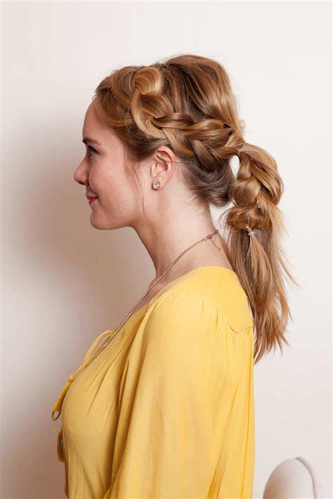 braided ponytail tutorials perfect  fall  glow