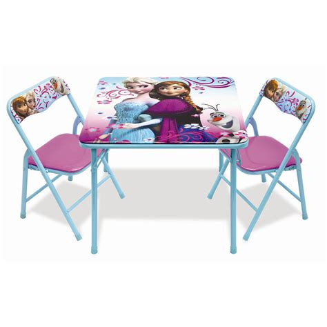 disney frozen table disney frozen activity table and 2 chair set ebay